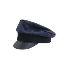 WWII German Luftwaffe Air Ministry blue Gabardine Crusher Visor cap