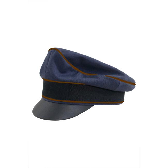 WWII German Luftwaffe Air Signals blue Gabardine Crusher Visor cap