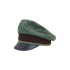 WWII German Police General Gabardine Crusher Visor cap