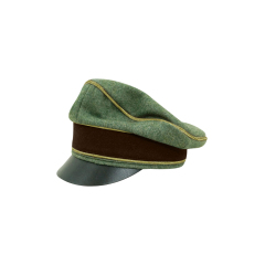 WWII German Police General Wool Crusher Visor cap