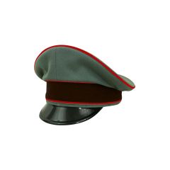 WWII German Fire Protection Police Officer Gabardine Visor cap