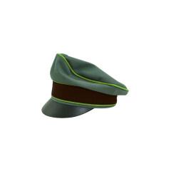 WWII German National Police Officer Gabardine Crusher Visor cap