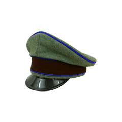 WWII German Geheime Feldpolice Officer Wool Visor cap