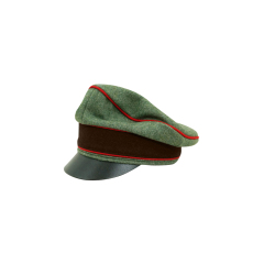 WWII German Fire Protection Police Officer Wool Crusher Visor cap