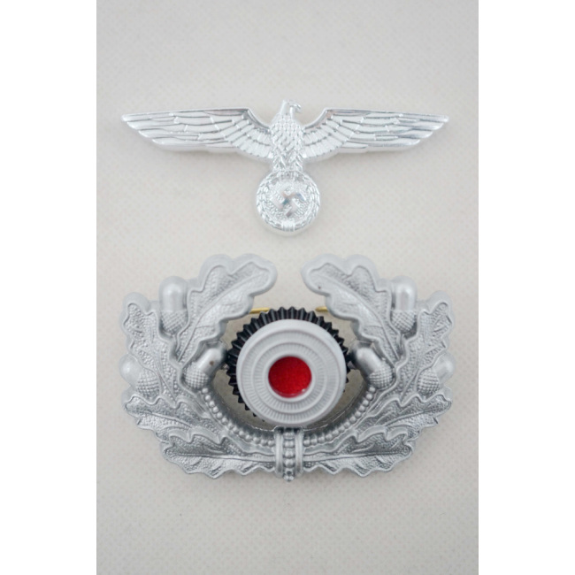 WWII German Metal Wreath & Cockade - heer Officer