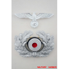 WWII German Metal Wreath & Cockade - heer Officer