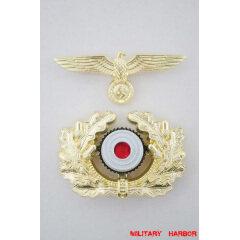 WWII German Metal Wreath & Cockade - heer General