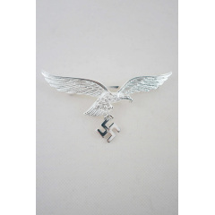 WWII German Metal Luftwaffe breast eagle - Officer