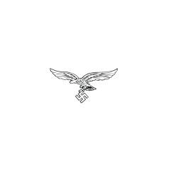 WWII German Luftwaffe 2nd Pattern eagle helmet decal