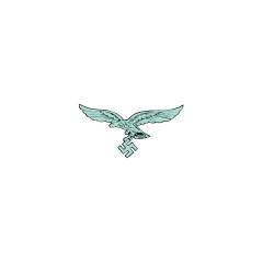 WWII German Luftwaffe 2nd Pattern green eagle helmet decal