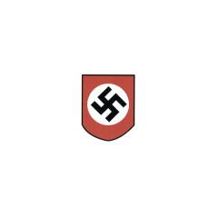 WWII German Party Shield (Swastika) helmet Decal
