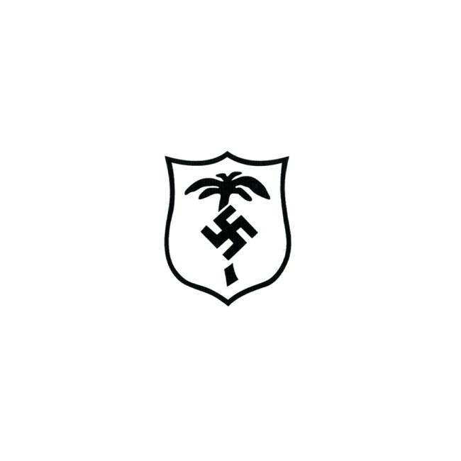WWII German Afrikakorps shield helmet decal