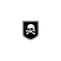 WWII German Totenkopf helmet decal