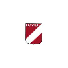 WWII German Latvian Volunteer's helmet decal
