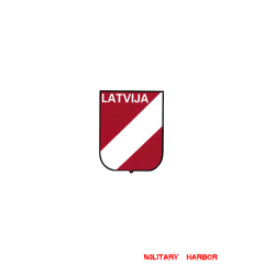 WWII German Latvian Volunteer's helmet decal