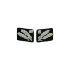 WWII German SS Brigadeführer (Brigadier General) before 1942 Collar Tabs
