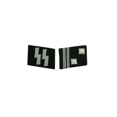 WWII German SS Sturmscharführer (Sgt. Major) Collar Tabs