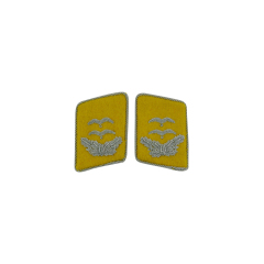 WWII German Luftwaffe Flight Fallschirmjäger Oberleutnant Collar Tabs