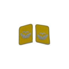 WWII German Luftwaffe Flight Fallschirmjäger Leutnant Collar Tabs