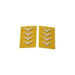 WWII German Luftwaffe Flight Fallschirmjäger Hauptgefreiter Collar Tabs