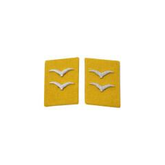WWII German Luftwaffe Flight Fallschirmjäger Gefreiter Collar Tabs