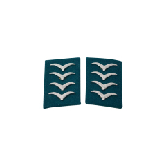 WWII German Luftwaffe Field Divisions Hauptgefreiter Collar Tabs