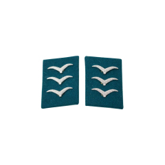 WWII German Luftwaffe Field Divisions Obergefreiter Collar Tabs