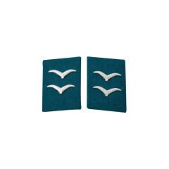 WWII German Luftwaffe Field Divisions Gefreiter Collar Tabs
