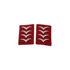 WWII German Luftwaffe Flak and Artillery Hauptgefreiter Collar Tabs