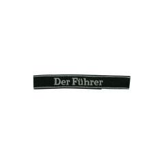 WWII German SS-VT Pz.Gren.Rgt. 4 Der Führer in latin script EM/NCO cuff title