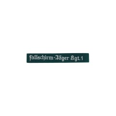 WWII German Luftwaffe Lw Fallschirmjäger Rgt.1 EM dark green backing cuff title