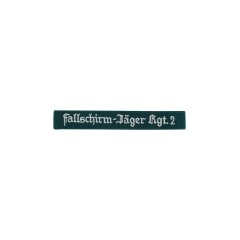WWII German Luftwaffe Fallschirmjäger Rgt.2 EM dark green backing cuff title