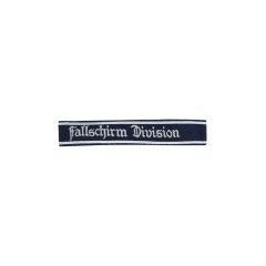 WWII German Luftwaffe Fallschirm Division NCO dark blue backing cuff title
