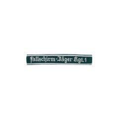 WWII German Luftwaffe Fallschirmjäger Rgt.1 NCO dark green backing cuff title
