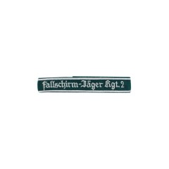 WWII German Luftwaffe Fallschirmjäger Rgt.2 NCO dark green backing cuff title
