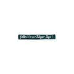 WWII German Luftwaffe Fallschirmjäger Rgt.3 NCO dark green backing cuff title