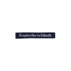 WWII German Luftwaffe kriegsberichter Der Luftwaffe EM cuff title