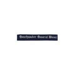 WWII German Luftwaffe Geschwader General Wever EM cuff title