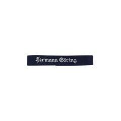 WWII German Luftwaffe Hermann Göring in Gothic script dark blue backing EM cuff title