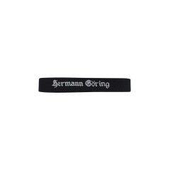WWII German Luftwaffe Hermann Göring in Gothic script black backing EM cuff title