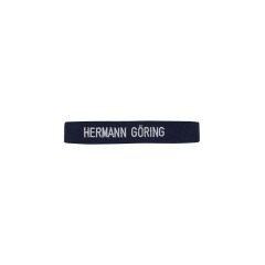 WWII German Luftwaffe Hermann Göring in block capital script dark blue backing EM cuff title