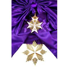 WWII German Prussian White enameled Pour le Merite Grand Cross Sash Badge