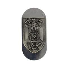 WWII German Heer Cholm campaign shield