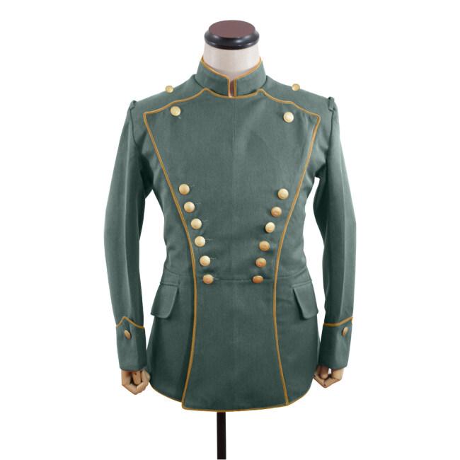 WWI German Empire Officer Gabardine Uhlan yellow Pipped tunic ULANKA