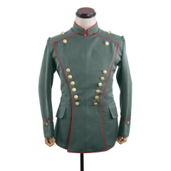 WWI German Empire Uhlan red pipped officer gabardine tunic ULANKA