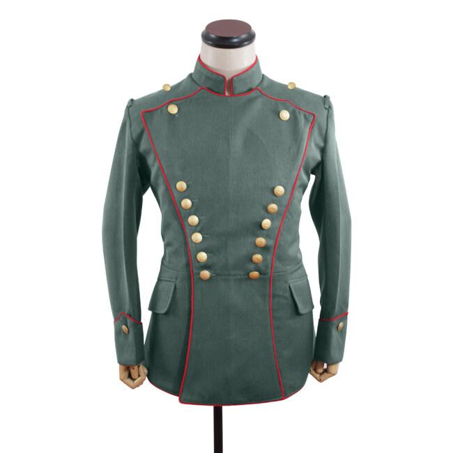 WWI German Empire Uhlan red pipped officer gabardine tunic ULANKA