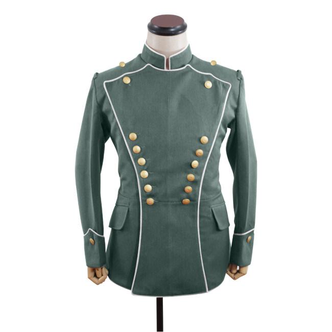 WWI German Empire Uhlan white pipped officer gabardine tunic ULANKA