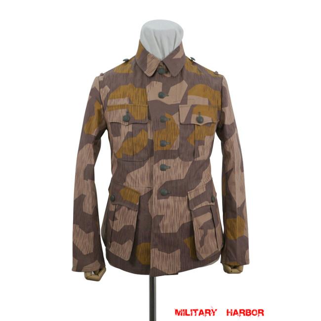WWII German Heer Splinter 41 Brown Variation Camo M41 field tunic