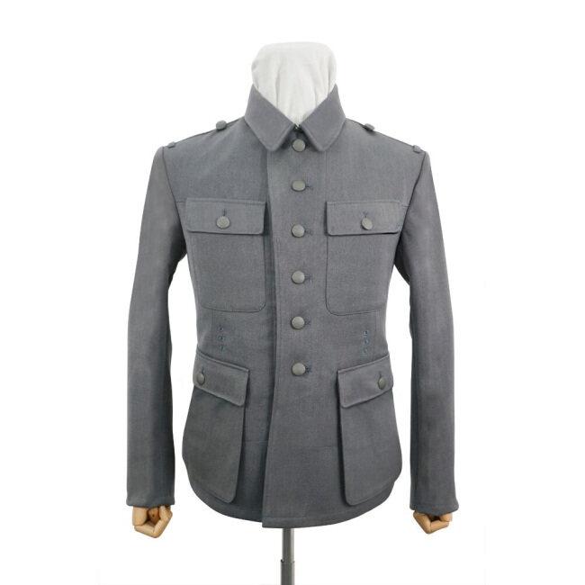 WWII German M43 Heer NCO Grey Gabardine tunic Feldbluse