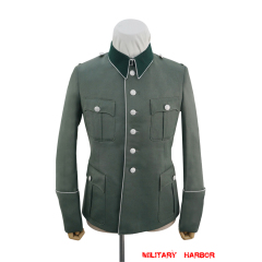 WWII German Heer M41 Officer General Gabardine piped service tunic Jacket